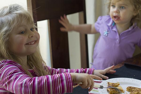 Kids love sweet potato pancakes