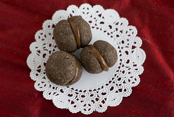 mini chocolate nutella sandwich cookies for world nutella day