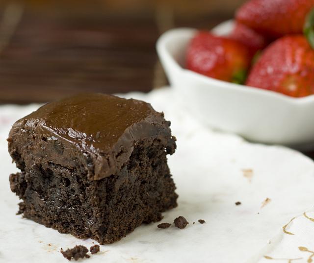 Rich Dark Chocolate Buckwheat Brownie with Nutella Ganache