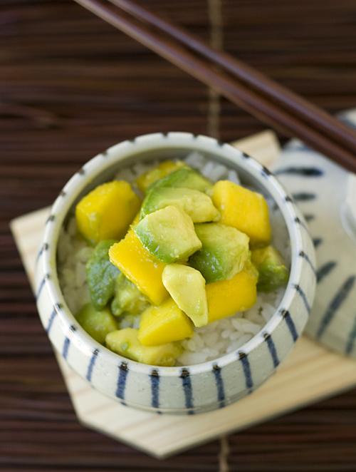 Avocado Mango Rice Bowl
