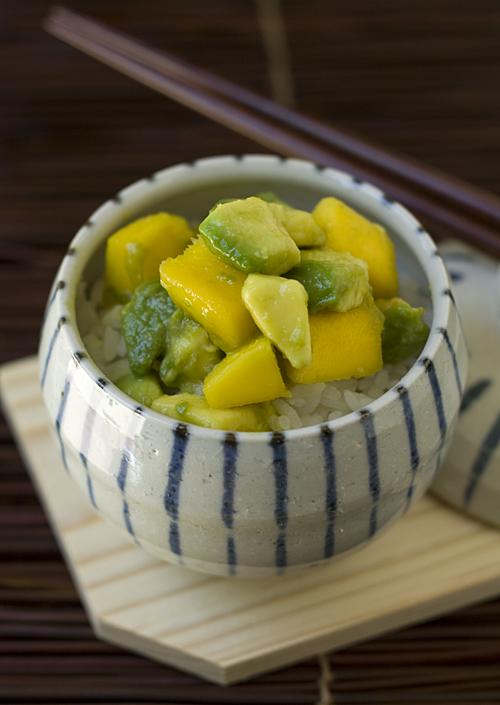 Avocado Mango Ricebowl, aka Avo-don