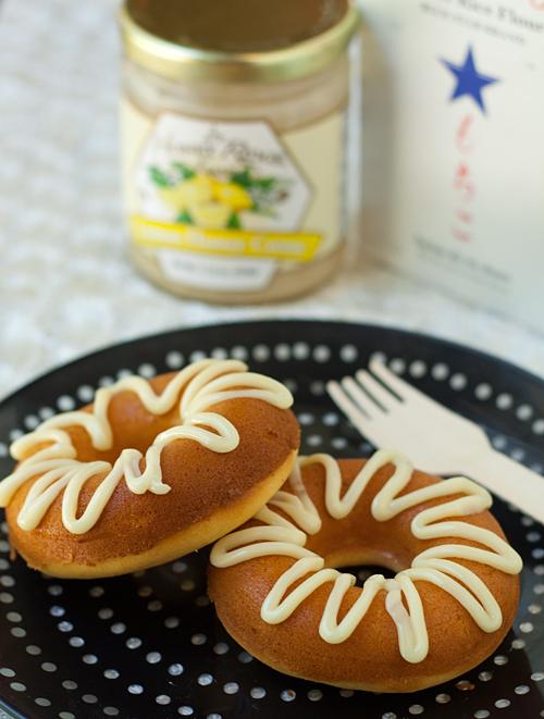 Baked Lemon Honey Creme Mochi Mochi Donuts
