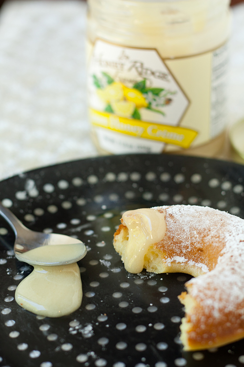 Eating Mochi Mochi Donuts with Lemon Honey Creme