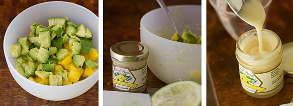 Making the Avocado Mango Topping