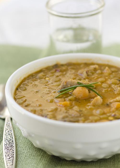 Pork and Lentil Soup