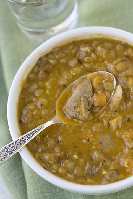 Comforting Pork and Lentil Soup