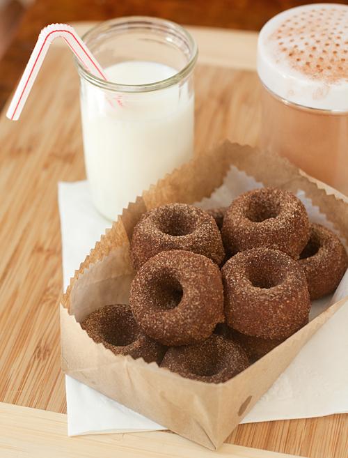 Baked Cinnamon and Sugar Tofu Donuts