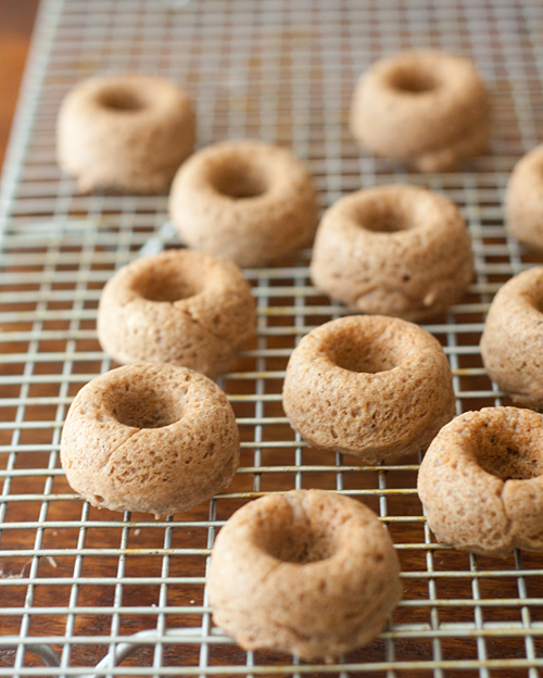 Baked Tofu Donuts Cooling