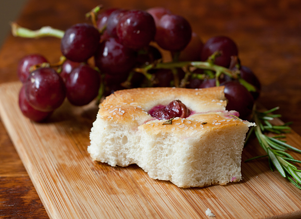 Feasting on Grape and Rosemary Focaccia