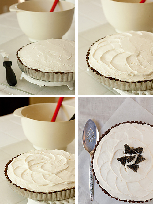 Finishing the tart