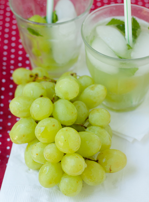 Fresh California Green Grapes make a refreshing summer drink!