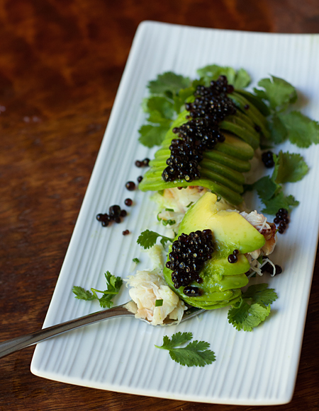 Divine Avocado Crab Roll with Soy Sauce Caviar