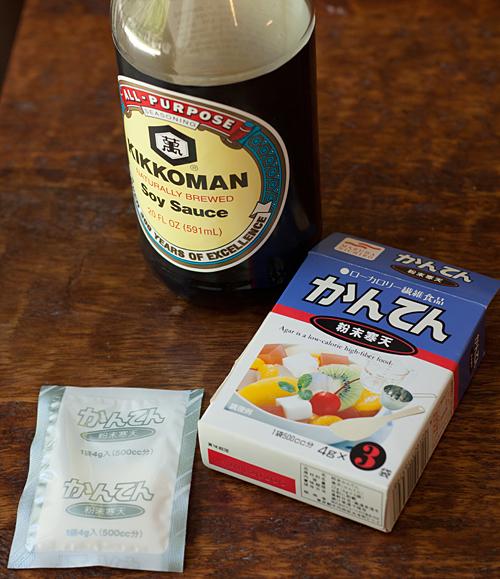 Soy Sauce and Agar Agar for making soy sauce caviar
