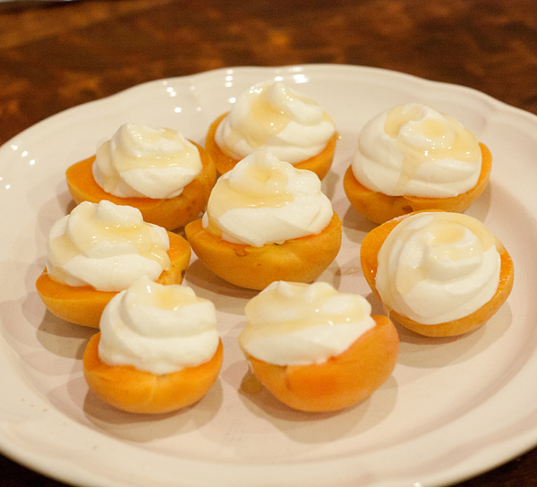 Apricots with Goat Cheese Mousse