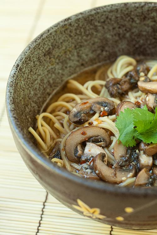 Bowl of Spicy Mushroom Miso Ramen