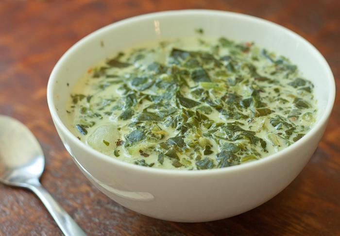 Salad Soup, aka Creamy Spinach Soup