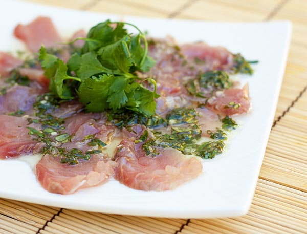 Fresh Hamachi Carpaccio