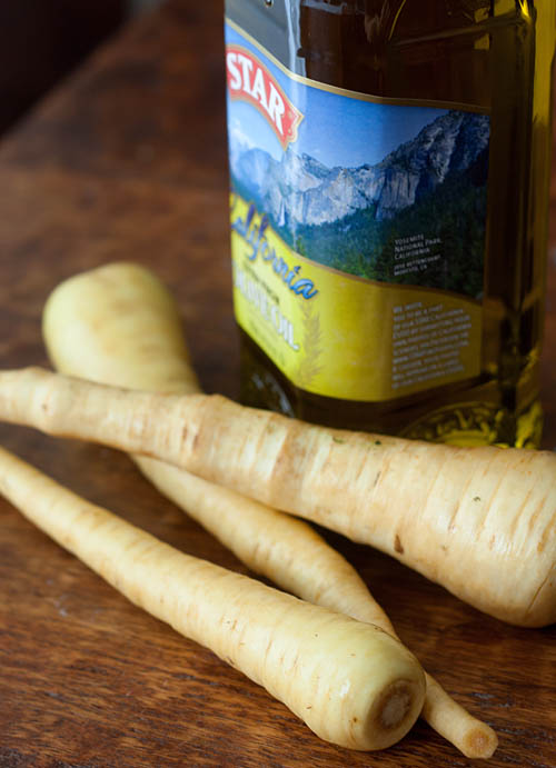 "Roasted Parsnip ""Fries"" with Curry Salt"