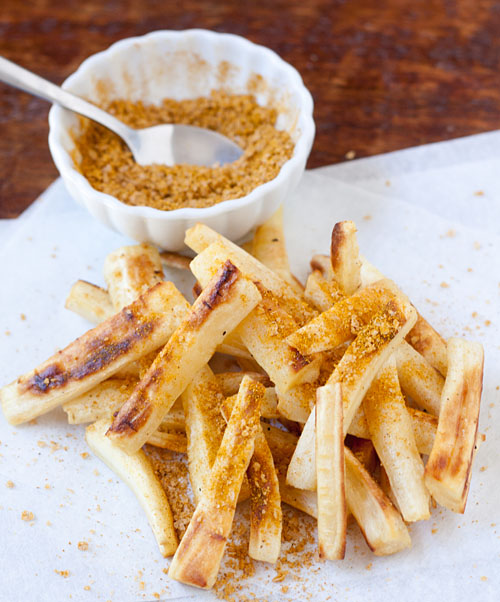 Roasted Parsnip Fries with Curry Salt