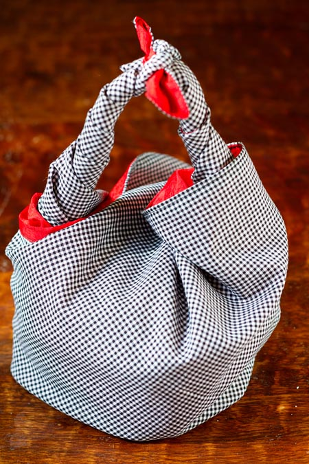 Basket Wrap using Red Wolf Lulu Wrap