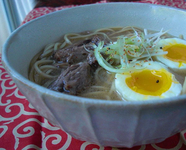 Bowl of comforting oxtail ramen
