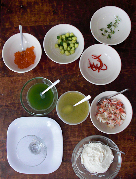 Components of the Crab Salad