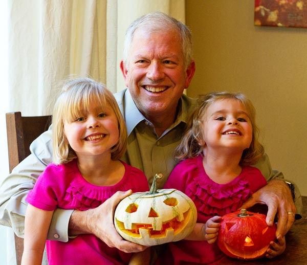 Fuji Papa and the Fujilings and their jack-o-lanterns