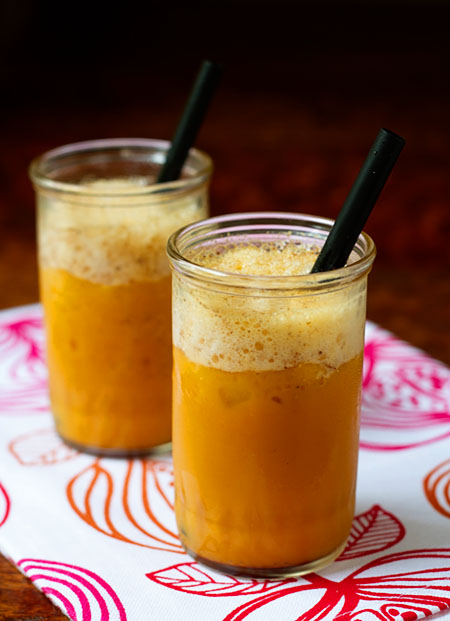 "Soymilk Carrot ""Cake"" Smoothies"