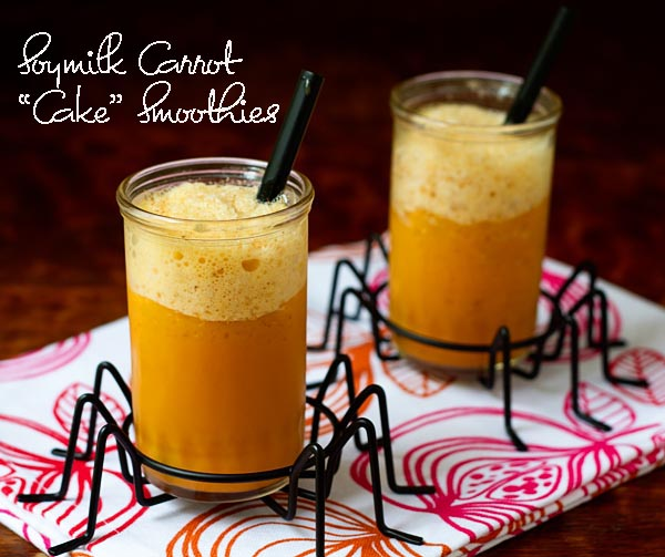 Soymilk Carrot Cake Smoothies