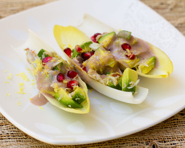 Avocado, Crab, Pomegranate Salad