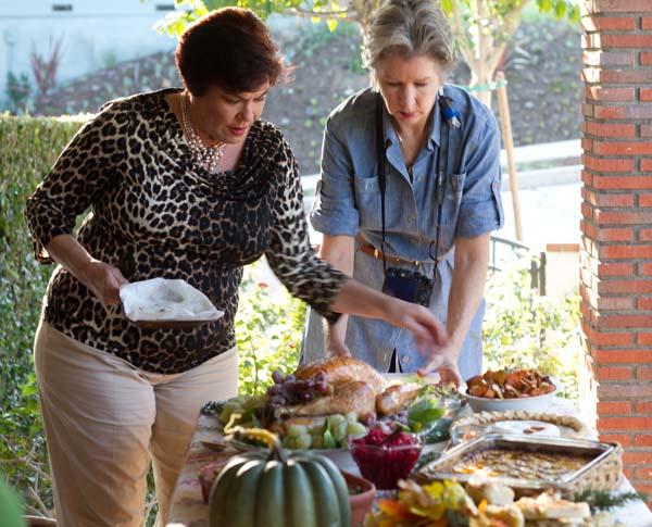 Denise Vivaldo making the table picture perfect