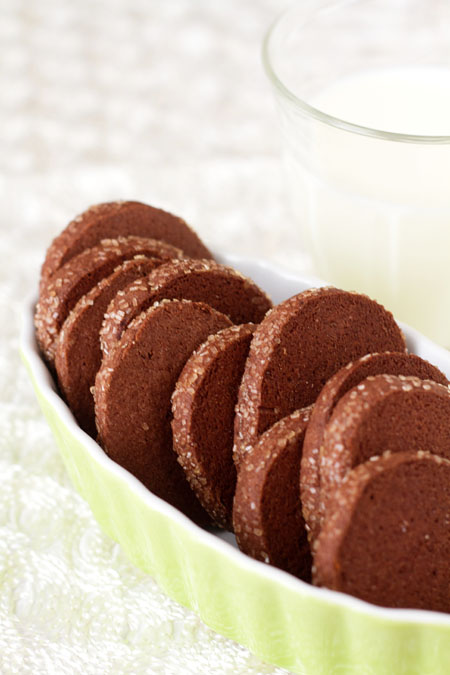 Chocolate Peppermint Sable Cookies