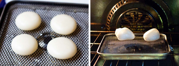 Cooking mochi for ozouni
