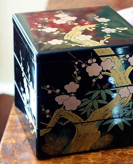 Jubako -- tiered lacquer box