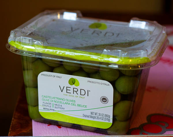 VERDI Castelvetrano Olives from Italy