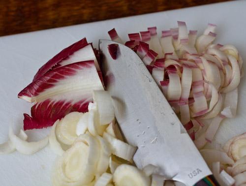 Fresh endive for salad