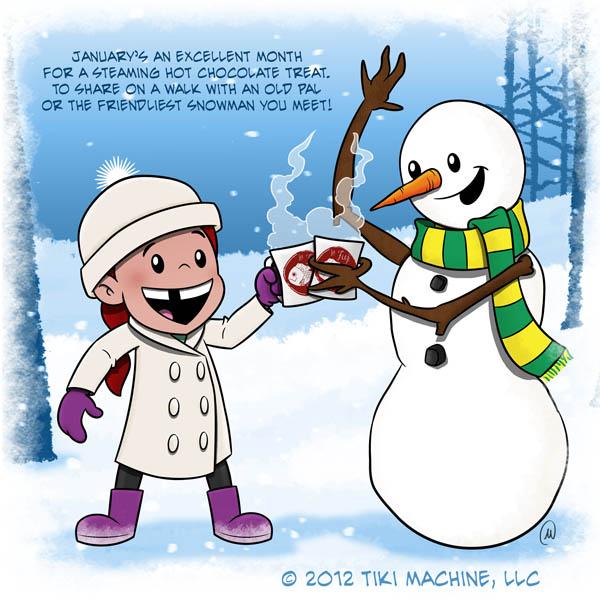 Snowman Peppermint White Hot Chocolate — La Fuji Mama
