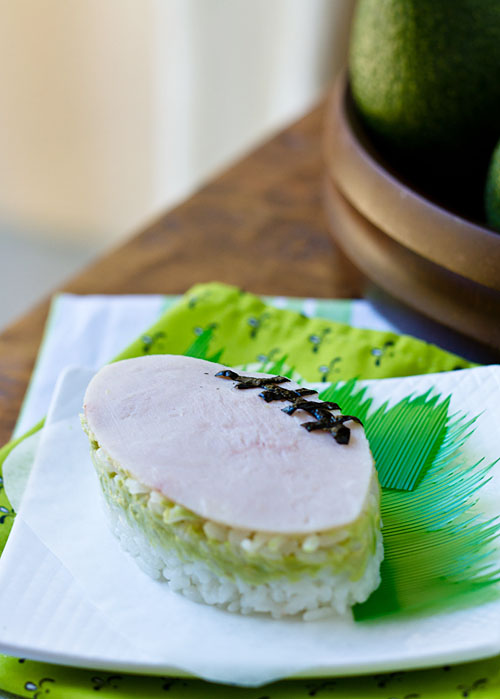 Turkey Avocado Onigiri Football