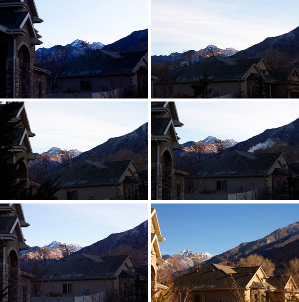 Watching the sunrise in Draper, Utah