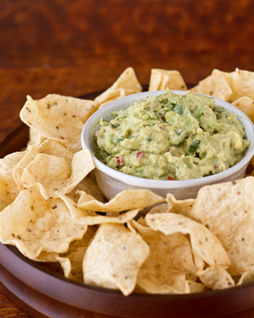 Lighter Avocado Dip and Chips