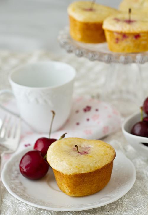 Lemon Cherry Tea Cakes