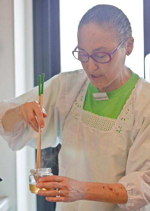 Elizabeth Andoh teaching a class about tsukemono