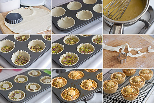 Making Mini Honey Pistachio Pies & Mini Honey Pistachio Pies Recipe \u2014 La Fuji Mama