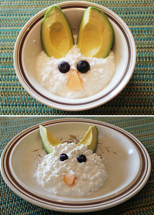 Avocado Cottage Cheese Bunnies