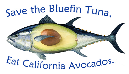 Save the Bluefin Tuna, Eat California Avocados.