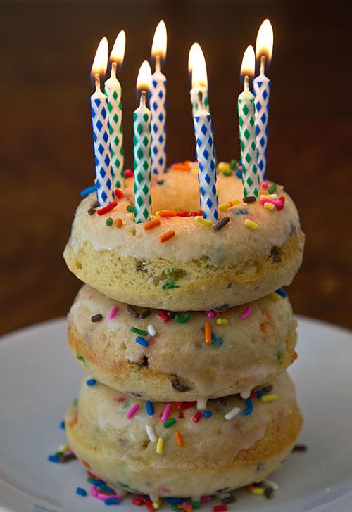 Confetti Cake Baked Doughnuts Recipe — La Fuji Mama
