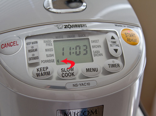 Rice cooker porridge setting