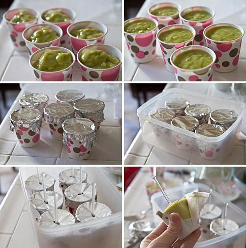Making avocado pops
