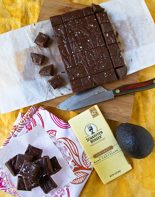 Scharffen Berger Chocolate Avocado Fudge