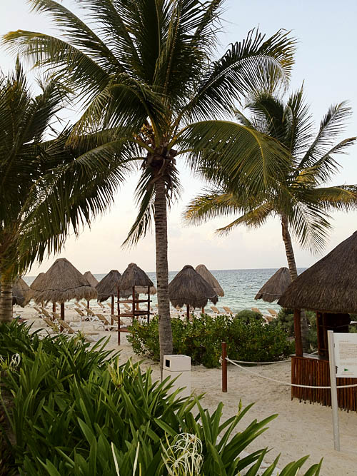 Beach at the Excellence Playa Mujeres in Cancun, Mexico